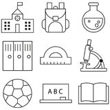 Собрание значка плана - школьное образование Стоковая Фотография RF
