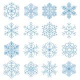 Собрание значка снежинки Стоковое Изображение RF