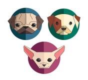 Собрание значка собак Стоковое фото RF