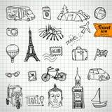 Собрание значка doodle эскиза, пикник, Стоковое фото RF