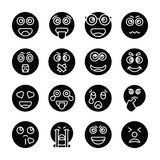 Собрание значков вектора Emojis твердое бесплатная иллюстрация