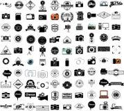 Собрание значков камеры иллюстрация штока
