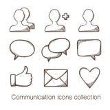 Собрание значков связи иллюстрация штока