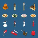 Собрание значков символов Турции Touristic равновеликое бесплатная иллюстрация