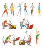 Собрание значков электронных спорт Esports плоское бесплатная иллюстрация