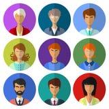 Собрание значков людей плоское Стоковая Фотография