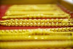 Собрание золотого браслета Стоковые Фото