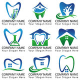 Собрание зубоврачебного логотипа установленное Стоковое Изображение RF