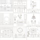 Собрание дизайна интерьера Стоковое Изображение