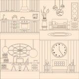 Собрание дизайна интерьера Стоковые Изображения RF