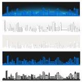 Панорама большого города Стоковое Изображение RF