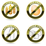 Собрание иконы диетпитания Стоковая Фотография RF