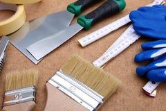 Собрание инструментов картины готова к использованию для hobbyist и профессионала стоковое изображение rf