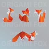 Собрание лисы Origami Стоковое Изображение RF
