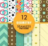 Собрание картины геометрии 12 безшовное безшовное backgr картины Стоковое Фото