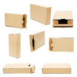 собрание картона коробки Стоковое Фото