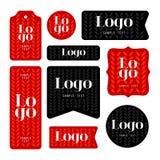 Собрание карточек логотипа и текста образца Стоковые Изображения