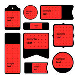 Собрание карточек логотипа и текста образца Стоковое Фото