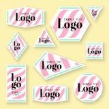 Собрание карточек логотипа и текста образца Стоковые Фото