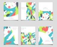Собрание карточки вектора с абстрактным дизайном Стоковое Изображение RF