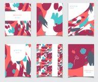 Собрание карточки вектора с абстрактным дизайном Стоковые Изображения