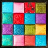 Собрание квадрат, текстура ткани и предпосылка Стоковая Фотография