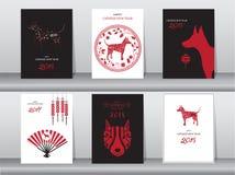 Собрание китайской карточки Нового Года Стоковое Изображение
