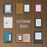 Собрание книг читателя электроники вектор Стоковые Изображения