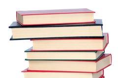 собрание книг штабелировало стоковая фотография rf