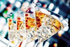 Собрание коктеилей - Мартини Стоковое Изображение