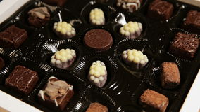 Собрание конфет шоколада сток-видео