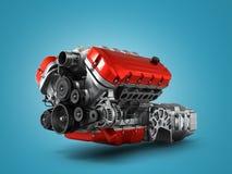 Собрание коробки передач автомобильного двигателя на белом backgr Стоковая Фотография RF