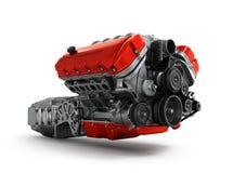 Собрание коробки передач автомобильного двигателя на белом backgr Стоковое фото RF