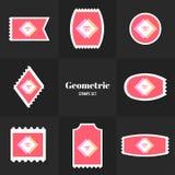 Собрание косоугольника и квадрат формируют штемпель почтового сбора Стоковое фото RF