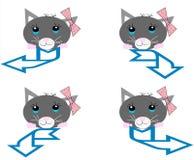 собрание котов стрелок Стоковые Изображения