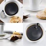 Собрание кофе и тортов Стоковое Фото