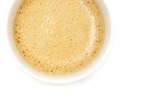 Собрание кофе.  Чашка эспрессо. Изолированный на белой предпосылке Стоковое фото RF