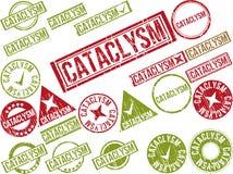 Собрание 22 красных избитых фраз grunge с текстом Стоковые Фотографии RF