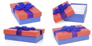 Красные и голубые коробки подарка Стоковые Фотографии RF
