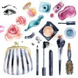 Собрание красоты акварели для состава Модный дизайн Стоковые Фотографии RF