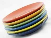 Собрание красочных блюд Стоковая Фотография RF