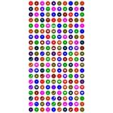 Собрание красочных всеобщих значков бесплатная иллюстрация