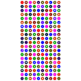 Собрание красочных всеобщих значков иллюстрация штока