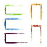 Собрание красочных детальных рамок Стоковые Изображения RF
