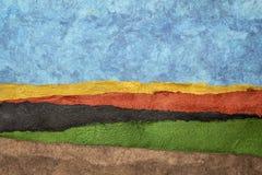 Собрание красочных текстурированных бумажных листов стоковая фотография rf
