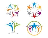 Собрание логотипа оказаних помощей Стоковые Изображения RF