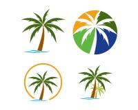 Собрание логотипа пляжа Стоковая Фотография RF