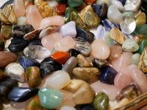 Собрание малых покрашенных камней стоковое фото