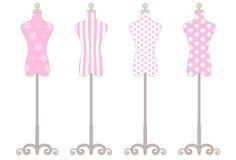 Собрание манекена розовое Стоковая Фотография