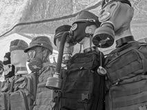 Собрание маски противогаза Стоковое Фото